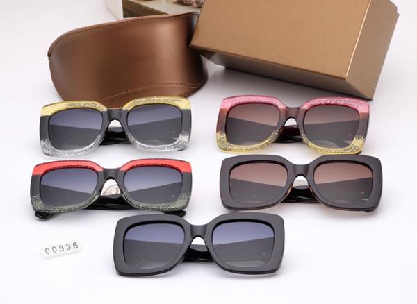 2019 new big box color matching fashion sunglasses trend flash color foreign trade glasses polarized sunglasses 00836