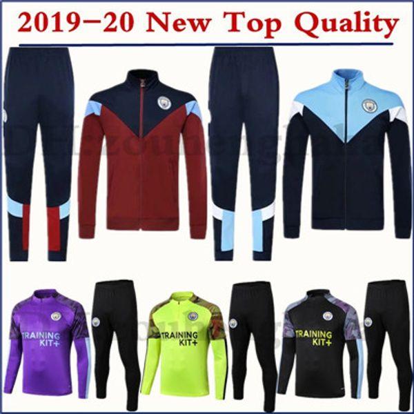 2019 2020 CITY KUN AGUERO traje de fútbol manchester 19 20 G.JESUS Survetement SANE ropa deportiva conjunto chándal de fútbol
