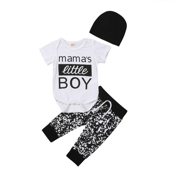 New Infant Baby Boys Gentleman Outfit Clothes Romper Tops+Pants+Hat Set