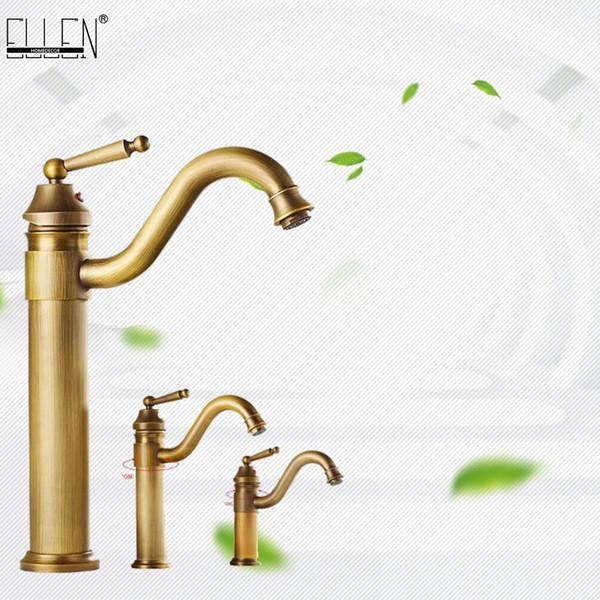 Tall Vessel Sink Faucet.2019 Bathroom Antique Bronze Faucet Tall Vessel Sink Faucets Mixer Hot And Cold Water Tap Antique Bronze Finished El5002 From Yanlunshop9 91 46