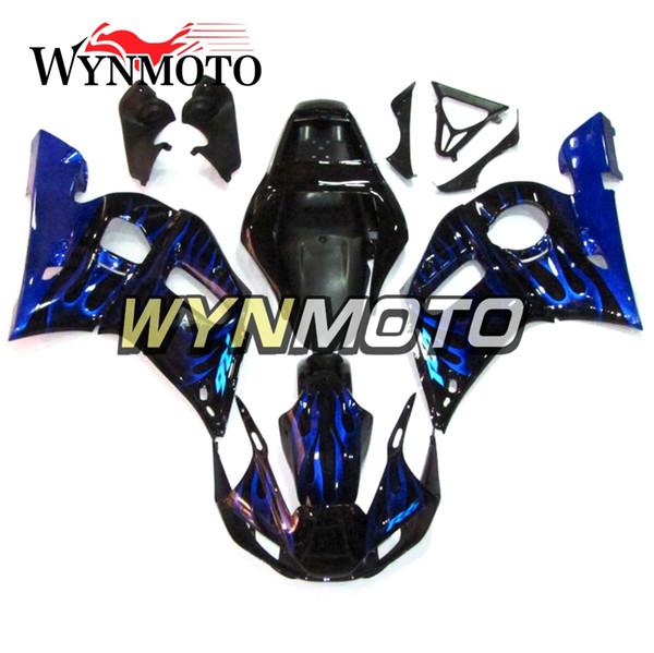 ABS Injection Carrosserie Couvre Vélos Pour Yamaha YZF-600 R6 Année 1998 99 00 01 2002 Kit Carénage Complet Corps Kit En Plastique Noir Bleu