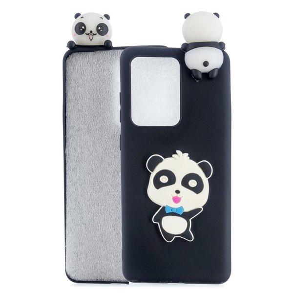 Panda com curva azul