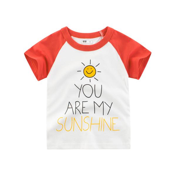 OKLADY 2019 Sommer Baby T-shirts Brief Drucken T Kleinkind Jungen Mädchen Baumwolle Weiche Günstige Süße T-shirt Kinder Marke Kleidung 12 Mt 1-10 T