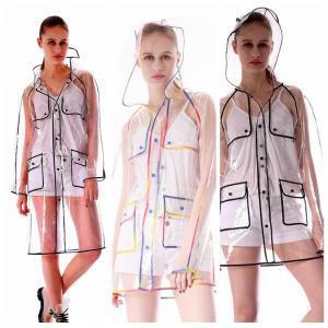 Transparent Edge Raincoat 2 Colors EVA Adults Single Waterproof Rain Coats Outdoor Hiking Rainsuit Rainwear 50pcs OOA6171