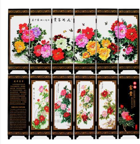 Antique small screen decorations of Chinese style lacquer paintings and crafts in Jinling Twelve Chains