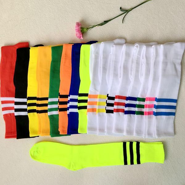 16 calzini da calcio sport a colori per adulti bambini maschi banda femminile studenti tubo lungo basket calze da calcio ragazzi ragazze progettare calzino corridore