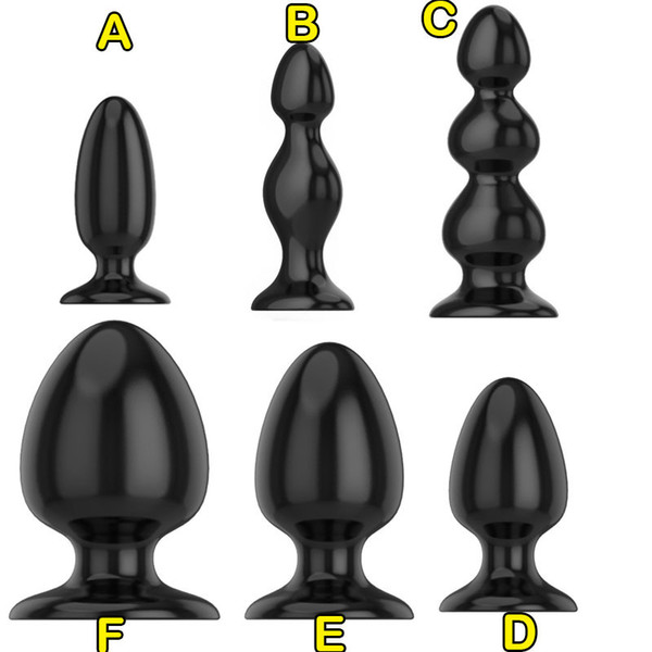 Super Big Butt Plug 6 Size Choose Anal Beads Dilatador Anal Expander Anal Plug Buttplug Prostate Massager Sex Toys For Couples SH190730