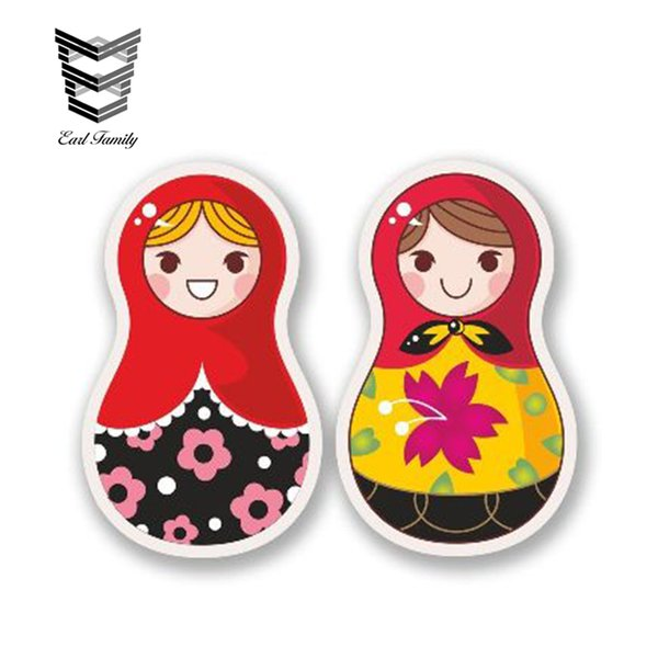wholesale 20pcs/lot Russian Doll Vinyl Stickers Funny Car Decals Car Truck Motor Laptop Tablet Waterproof Car Sticker Graphic 13cm x 8cm