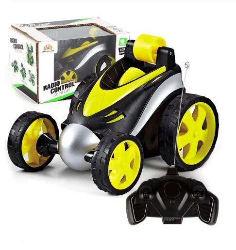 top popular Wireless RC Car Tumbling Stunt Dump Truck Remote Control Toys For Children Electric Cool RC Cars Boy Birthday best Gifts kids toys 2020