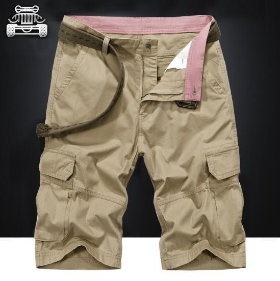 Мужские повседневные брюки летние шорты с несколькими сумками свободные мужские повседневные грузовые пять брюк пляжные брюки для мужчин 3 цвета плюс размер