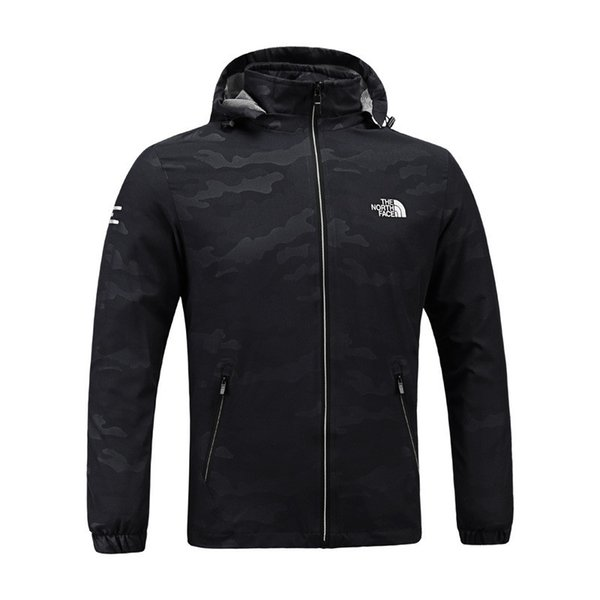 best selling Men Designer Jacket The North Mens Spring Autumn Fall Coat Outdoor Sports Hooded Face Windbreaker Coats Zipper Camo Hoodie Plus Size C8703