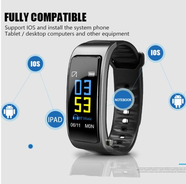 Y3 Smart Bracelet Bluetooth Headphone With Mic Two-in-one Talkband Y3 Fitness Tracker Smartband Speaker Watch For Iphone Samsung Huawei