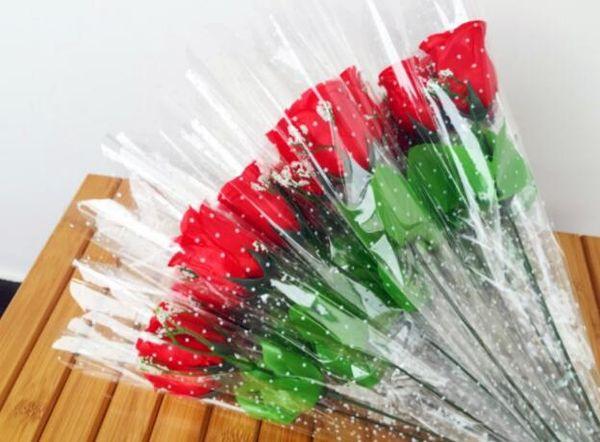 Simulation silk single branch rose flower arrangement accessories home wedding decoration GB44
