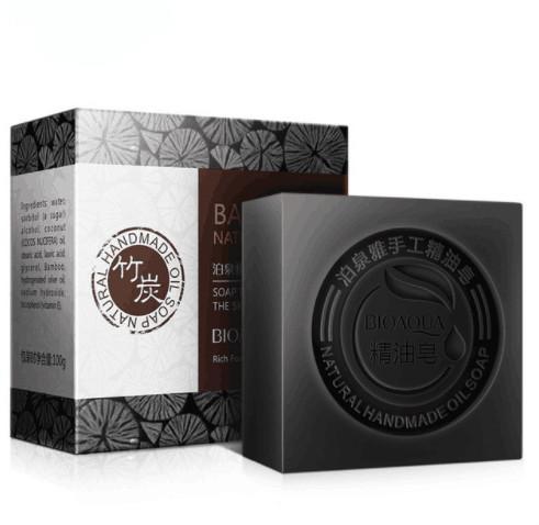 bamboo charcoal Handmade Soap Skin Whitening Soap Blackhead Remover Acne Treatment Face Wash Hair Care Bath Skin Car