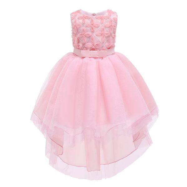 TUTU little girl beach pink dress for 3-8 years old baby girl skirt wholesale