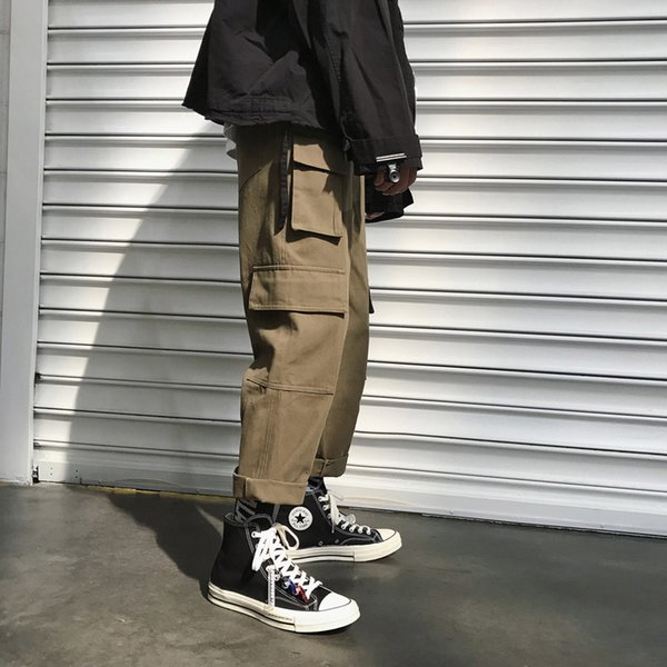 hip hop Cargo Pants with many pockets Straight mens trousers loose streetwear pants ropa hombre casual high street fashions men