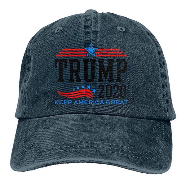2019 New Designer Baseball Caps Keep America Great President Trump for 2020 Mens Cotton Adjustable Washed Twill Baseball Cap Hat