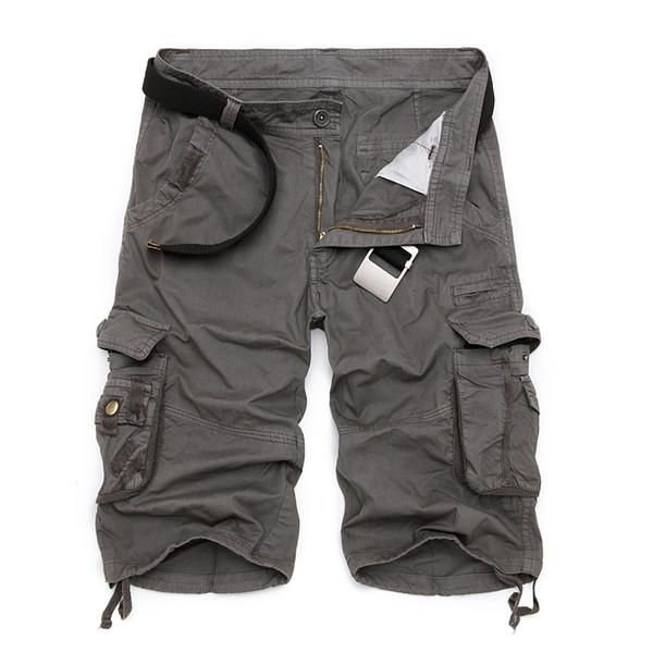 Pantalones cortos de carga militar para hombre 2019 Pantalones cortos tácticos de camuflaje del ejército a estrenar Hombres Pantalones sueltos de algodón de trabajo flojo Pantalones cortos más el tamaño Q190428