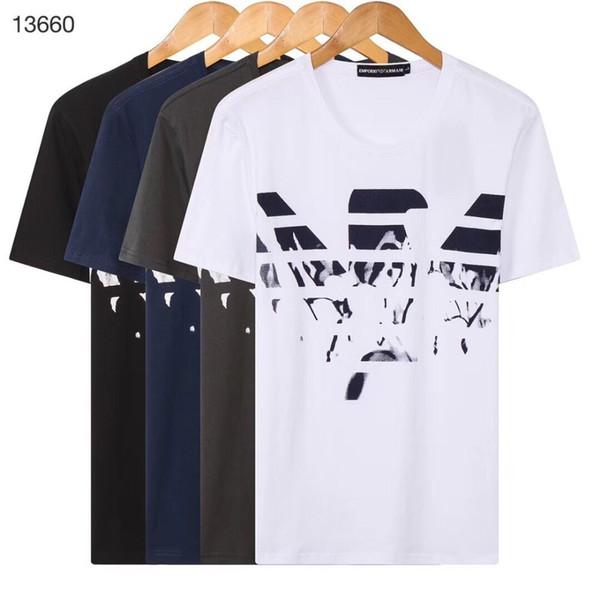 Мужская футболка Новая летняя мода Повседневная спортивная футболка с коротким рукавом Удобная дышащая футболка с принтом