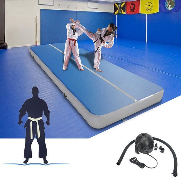 Бесплатная доставка высокое качество 4x1x0.2M Раздувной след падения воздуха батут надувной воздушный трек гимнастика на гимнастическом ковре