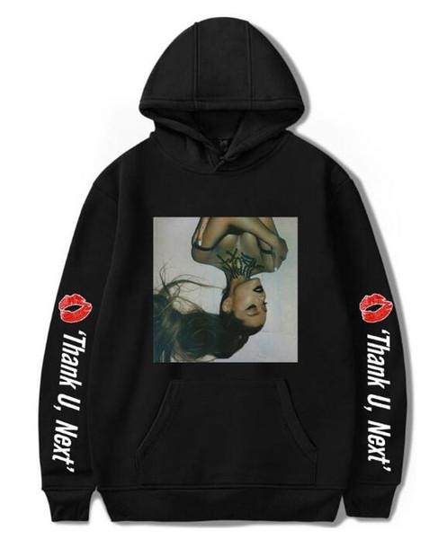 XXS-4XL hombres sudaderas con capucha casual Ariana Grande sudadera manga larga abrigo cadera pullovers harajuku sudadera con capucha ropa