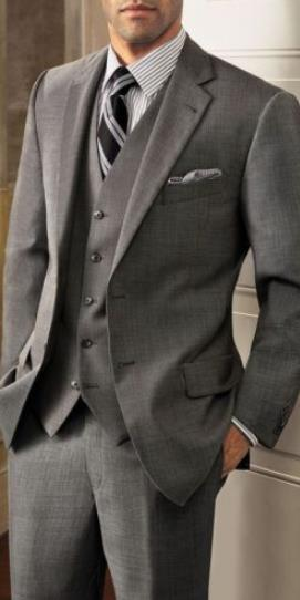 Grey Custom Made Groomsmen Groom Tuxedos Shawl Reverse Mens Wedding Suits Best Man Blazer (Jacket + Pants + Vest Tie)
