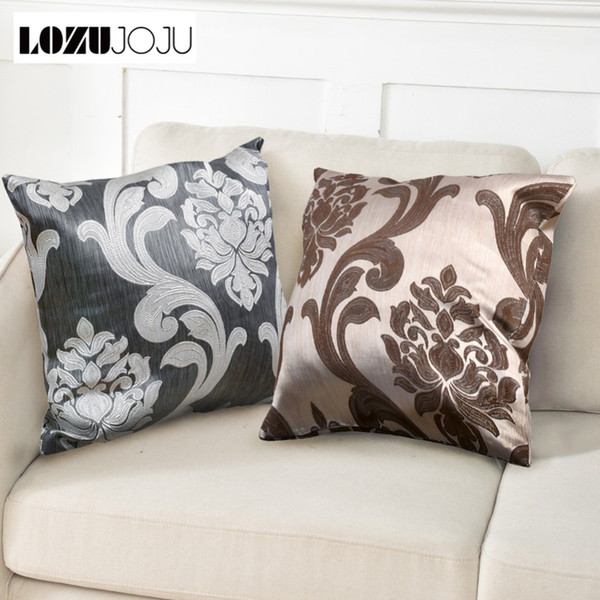 LOZUJOJU 1 Piece Floral Jacquard European Pillow Cases Cushion Covers for Home Decor Textile Rustic Bedroom Chair Living