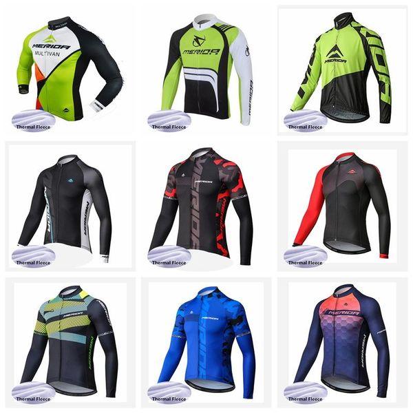 2019 MERIDA Winter Thermal Fleece uomo Cycling Maglie manica lunga Ropa ciclismo Abbigliamento MTB bicicletta Rock Racing Bici vestiti K013113