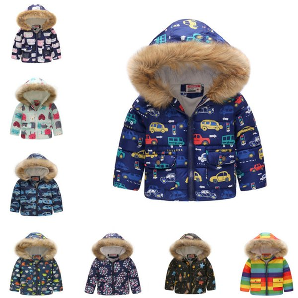 Baby Boys Jackets 2019 Autumn Winter Kids Jacket Girls Warm Thick Hooded Coat Children Outerwear 1-6 Y Toddler Girl Boy Clothing ELE415