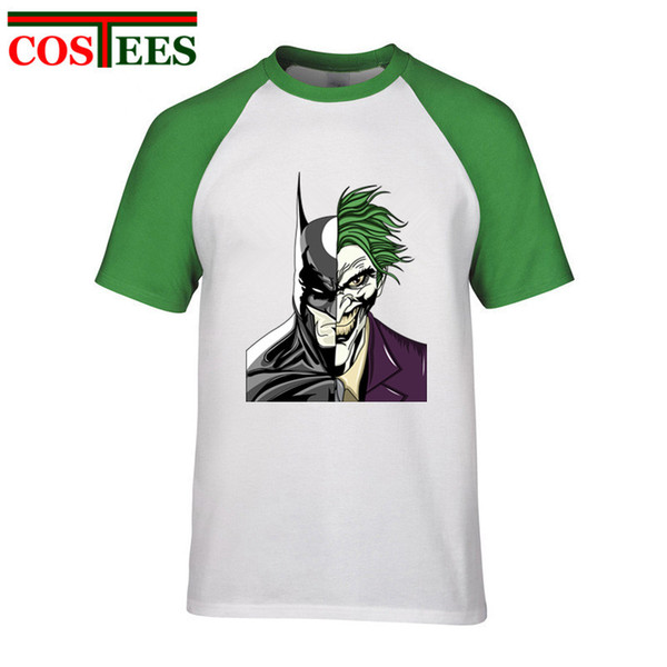 2018 New season collection Funny Bat VS Joker faces t-shirt men comic Devilman Zorro T shirt tshirt super man Top Tee