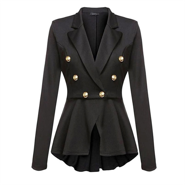 Gothic Casual Office Lady White Women Overcoats Blazer Autumn Slim Black Formal Girls Yellow Popular Female Coats Purple Blazers #408409