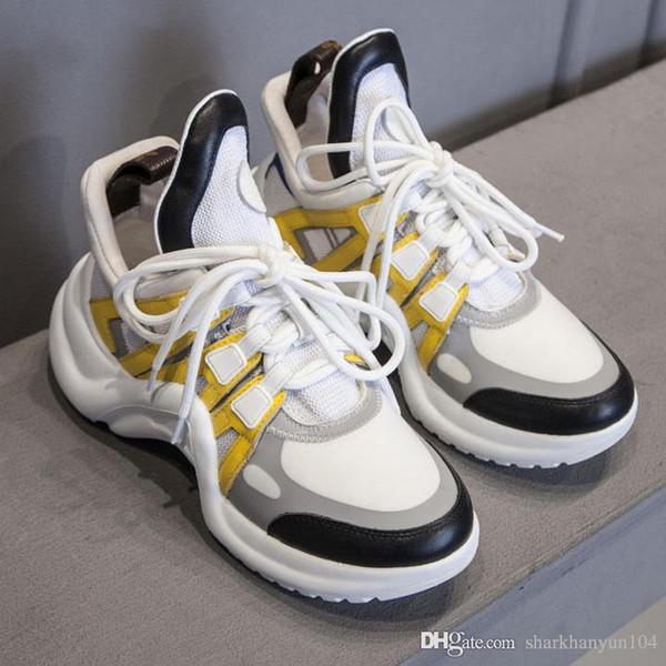 Nouveau mode femmes chaussures de sport de luxe designer cuir production confortable semelle épaisse top qualité chaussures de sport en plein air NB: L4-0 +4
