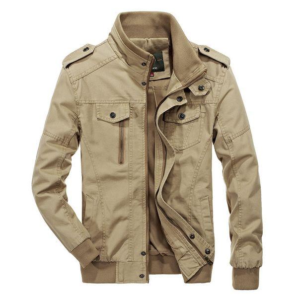 Brand men's jacket stand collar zipper army style bomber jacket men 2019 casual jackets & coats men plus size 5XL 6XL