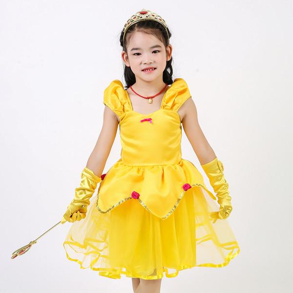 Compre 2019 Disfraces De Halloween Para Niños Princesa Poco Vestido Vestido De Niña De Verano Para Los Niños Del Vestido De Cosplay Dancewear Alta
