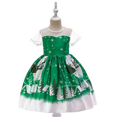 Girls Christmas dresse girls boutique clothing kids designer clothes baby kids gown Girls lace princess dress children fluffy dresses frocks