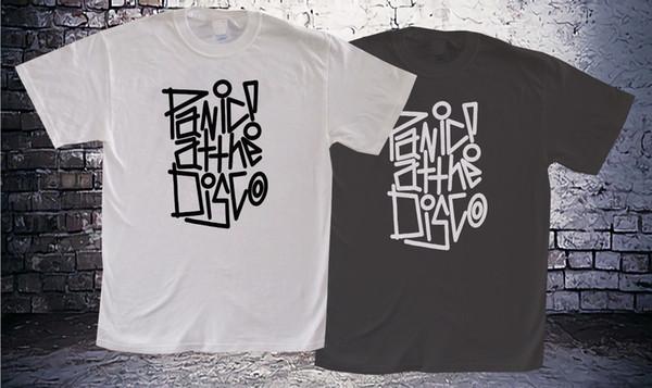PANIC NO DISCO TIE DYE homens Balck e camiseta Branca t ShirtFunny frete  grátis Unisex Casual 4fc21da4665