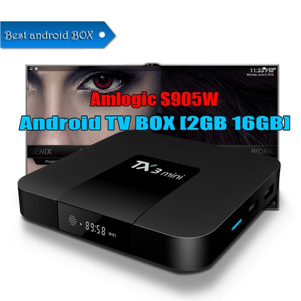 Best Android Box 2020.2020 Amlogic S905w Tx3 Mini Smart Tv Box 2gb 16gb Quad Core Android 7 1 Ott Tv Box H 265 4k 3d Stream Media Player Set Top Box Tv Tv Box Online From