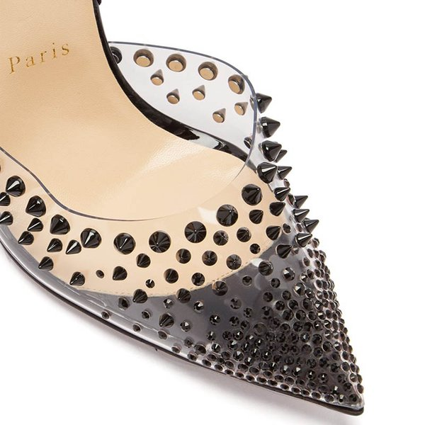2019 fashion red high-heel women's pointed head rivet mechanical ankle winding ribbon pump nail cover heel wedding party shoes