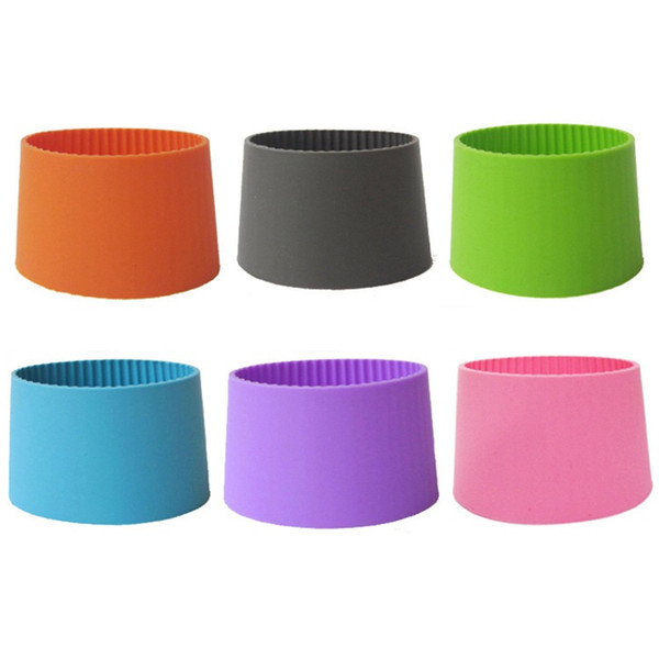 wholesale Silicone sleeves for mug cup sleeves band recyclable heat insulation cup bottle cover multi colors