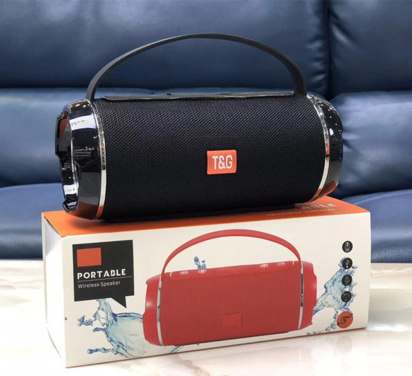 Tg116c bluetooth drahtlose lautsprecher mini tragbare lautsprecher doppel horn tuch net tf usb karte hand frei mic stereo subwoofer mp3 music player