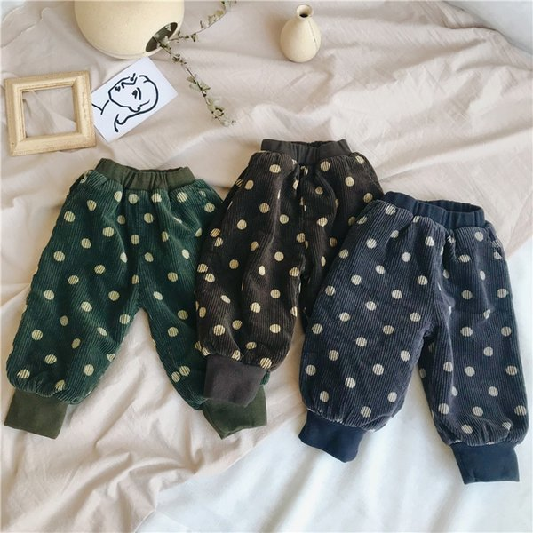 Corduroy Velvet Two Layers Thicken Boys Girls Pants Winter Fall Kids Trousers Children Outwear Warm baby girl winter clothes