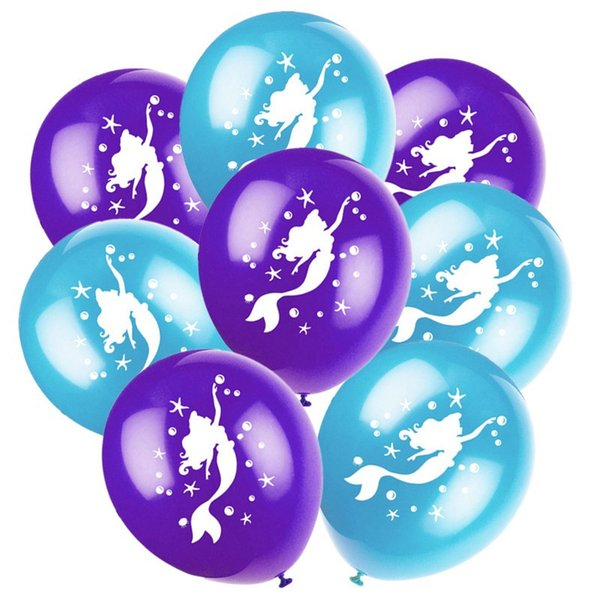 12 '' Mermaid Balloons con bluepurple all'interno di 2.8g gonfiabile 30CM trasparente sequin Latex Palloncini Wedding Xmas baby shower compleanno