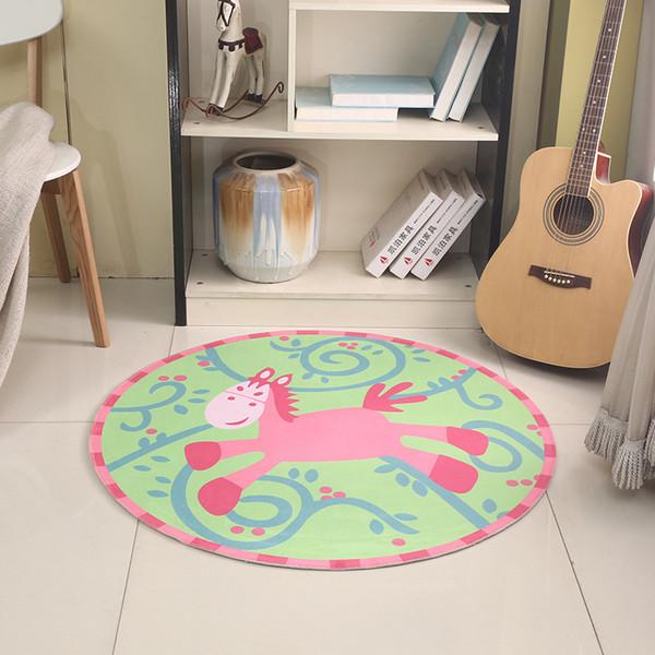 Cartoon Round Carpet Kids Room 3D Children Boys Bedroom Area Rugs Chair  Mats Soft Comfot Anti Slip Living Room House Doormats Commercial Carpet  Prices ...