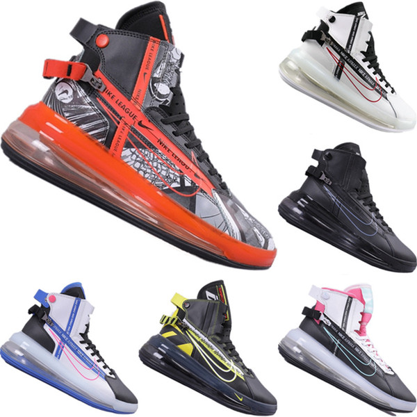 With Box 2019 More Uptempo Satrn Leather Function Sports Boots Original More Uptempo Satrn All Zoom Air High Top Jogger Shoes