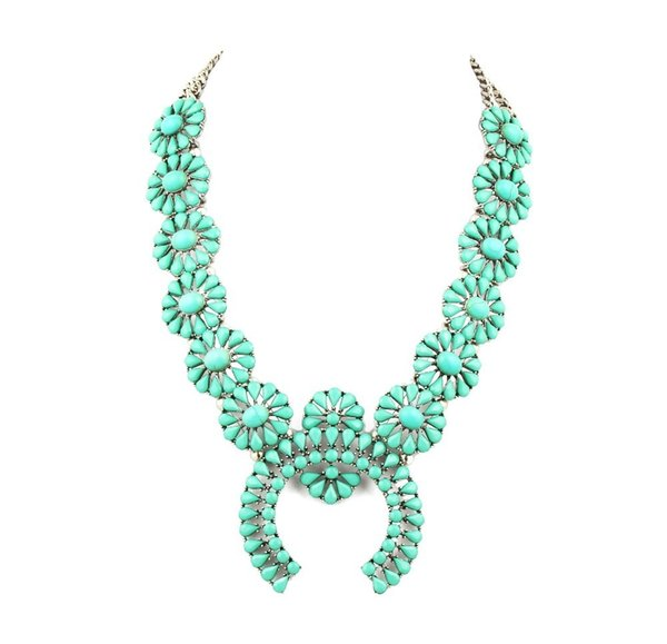 High Quality Squash Blossom Necklace Latest Design Necklace Jewelry Best Selling Necklace Women Y19050802