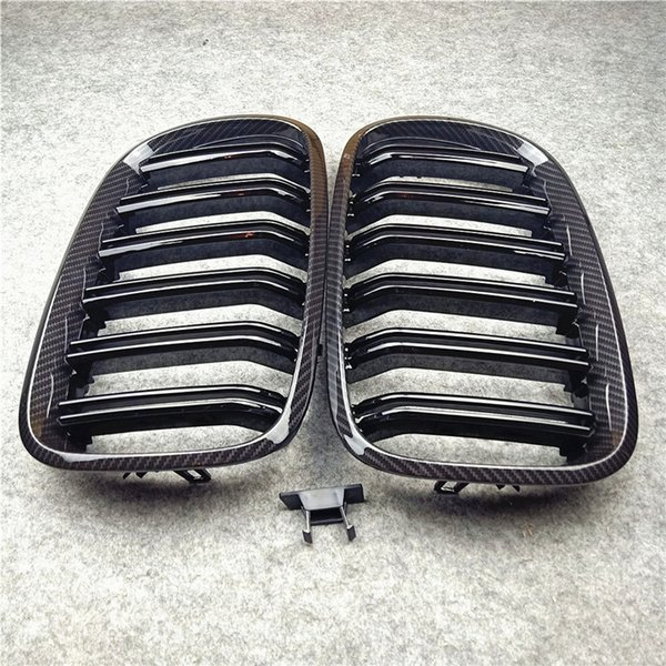 top popular Pair Car Glossy M Color Front Bumper Air Intake Kidney Grille For BMW X5 X6 E70 E71 ABS Double Slat Mesh Grilles 2007-2013 2021
