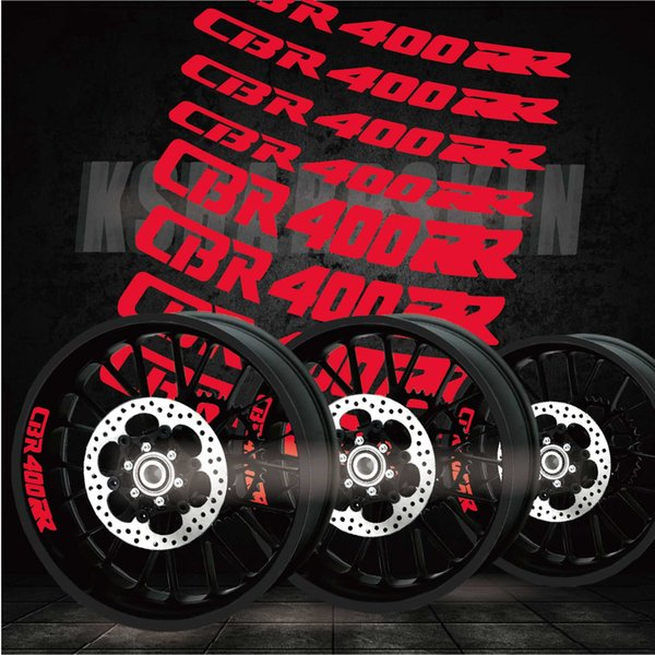 best selling New tires cool modified motorcycle stickers inner wheel LOGO reflective personality rim decorative decals for HONDA CBR400RR