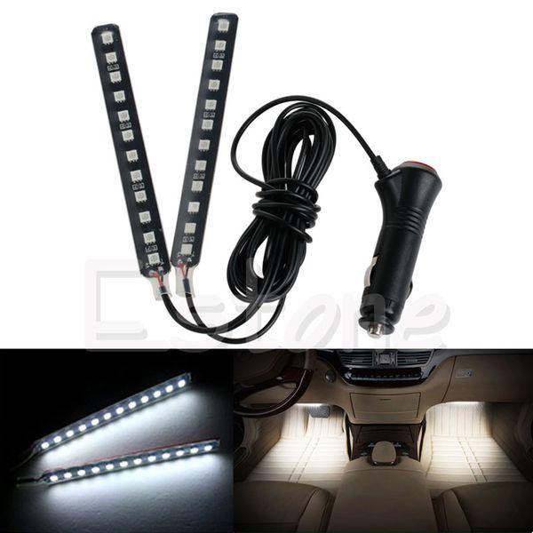 New Signal Lamp White 2x12LED Car SUV Interior Light Atmosphere Decorative Light Neon Lamp