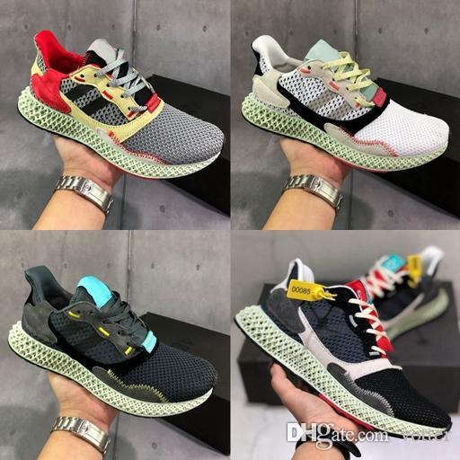 sports shoes 52ca2 d4966 2019 New Consortium ZX 4000 FutureCraft 4D Running Shoes For Men Mens  BD7931 Zx4000 Designer Trainer Sports Sneakers Chaussures Zapatillas Mens  Sale ...