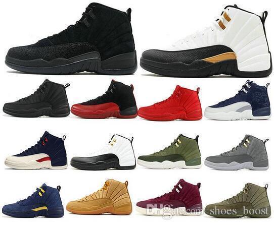 Jumpman 12 tênis de corrida de basquete 12 s sapatilhas das mulheres dos homens wntr prm cny ginásio playoff vermelho o mestre esporte designer formadores tamanho 40-47